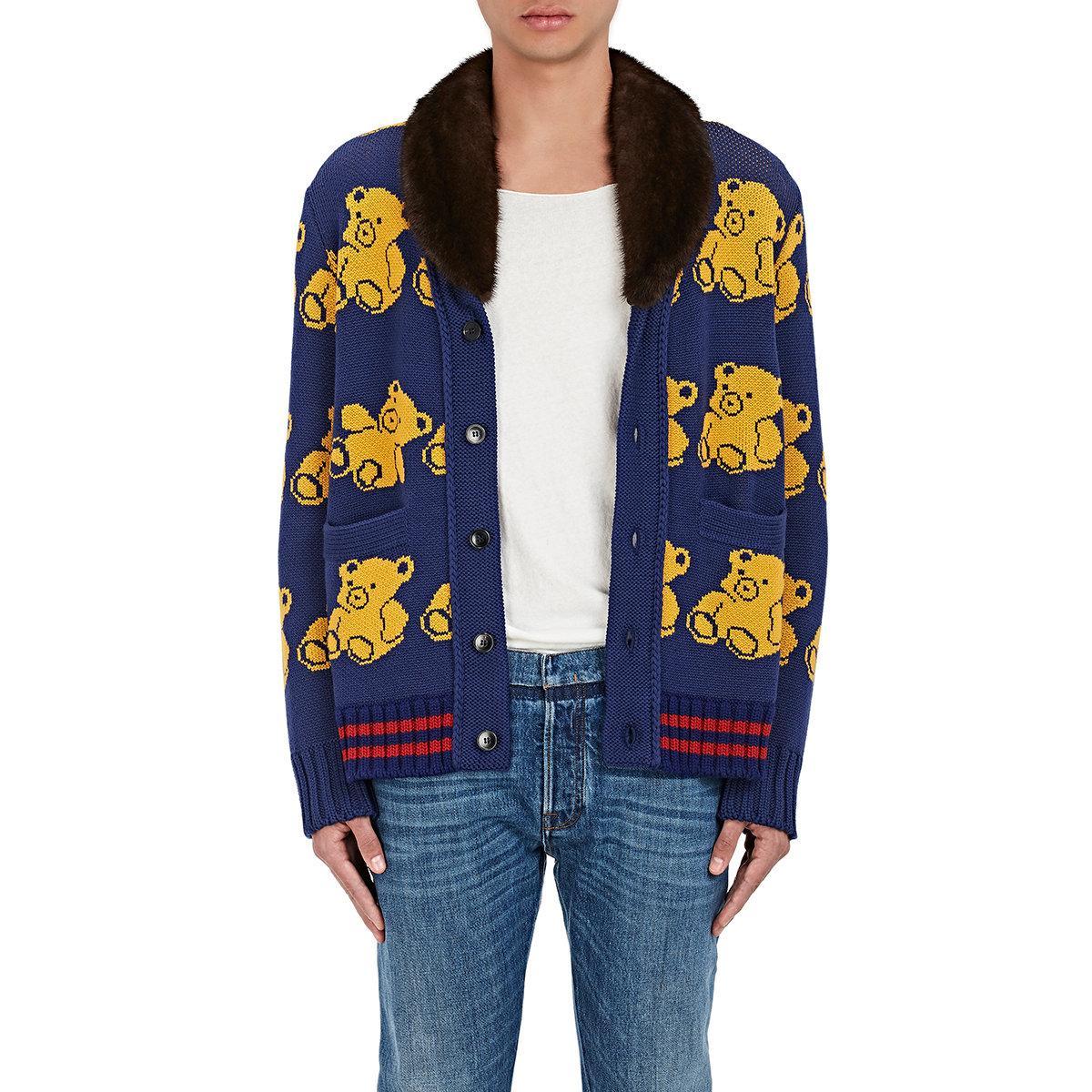 65ad4b4e302 Lyst - Gucci Teddy Bear in Blue for Men