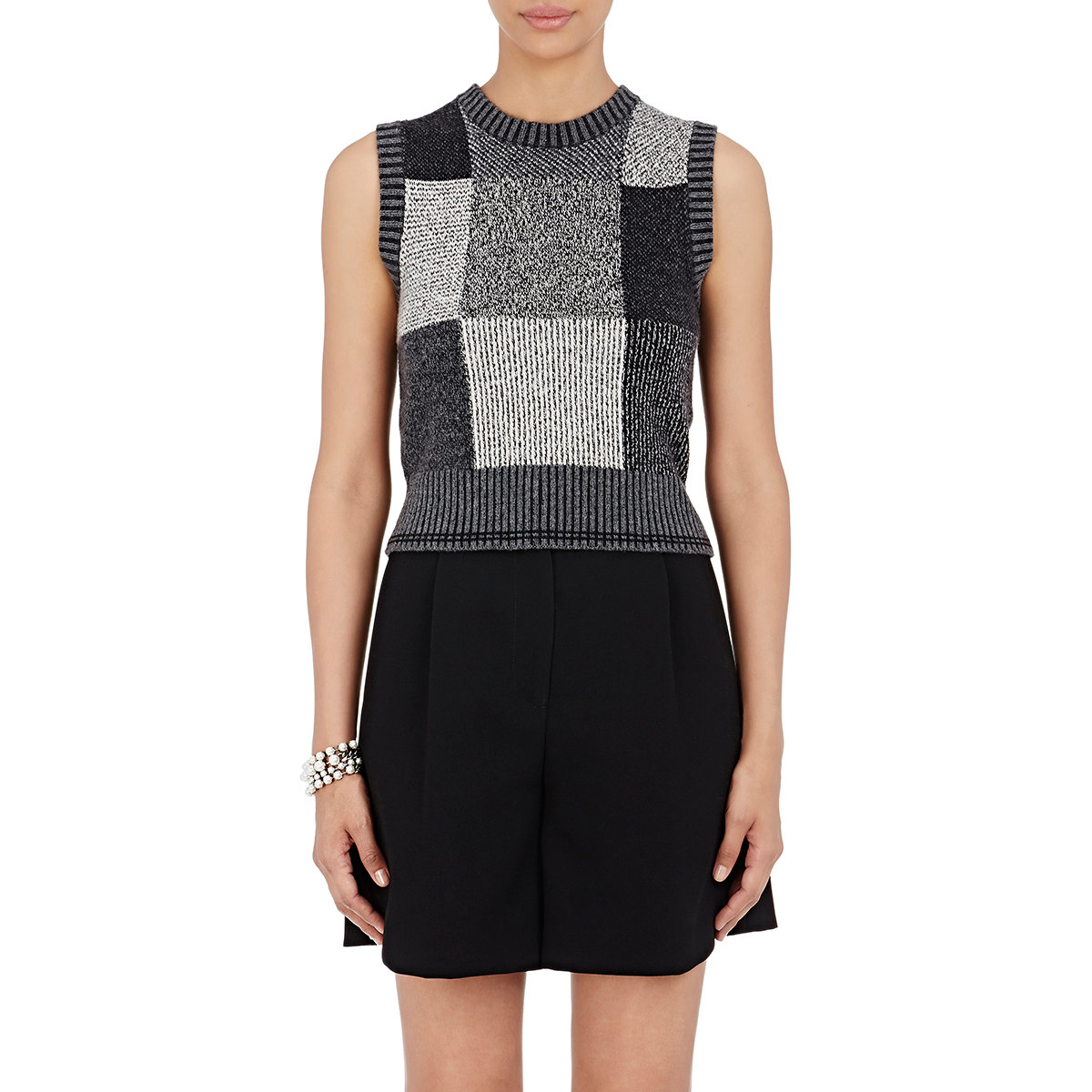 Marc Jacobs Laukku Ale : Marc jacobs colorblocked sweatervest in gray lyst
