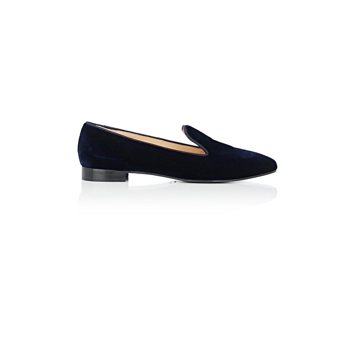 Barneys new york Venetian Slippers in Blue | Lyst