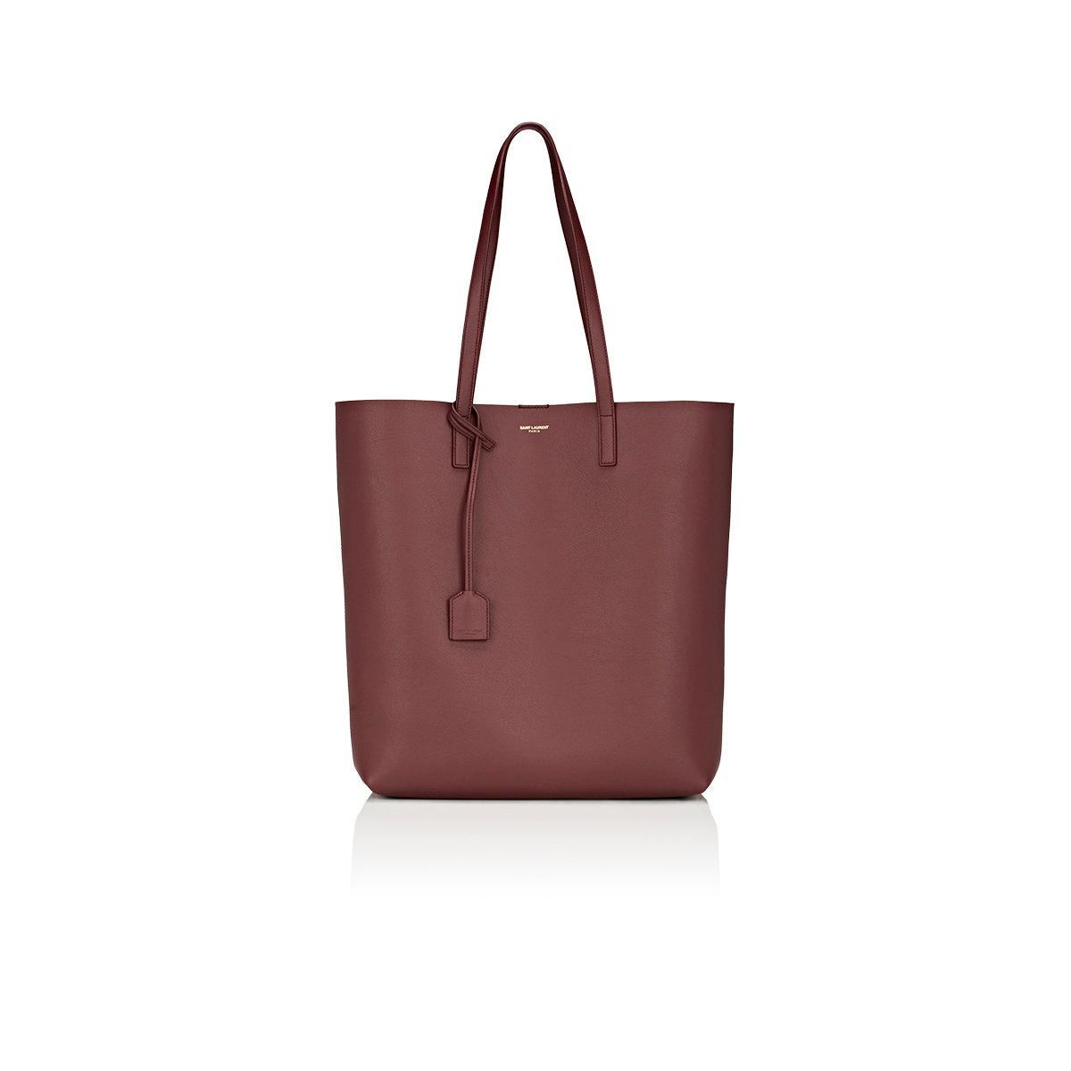 saint laurent medium shopping tote bag in red lyst. Black Bedroom Furniture Sets. Home Design Ideas