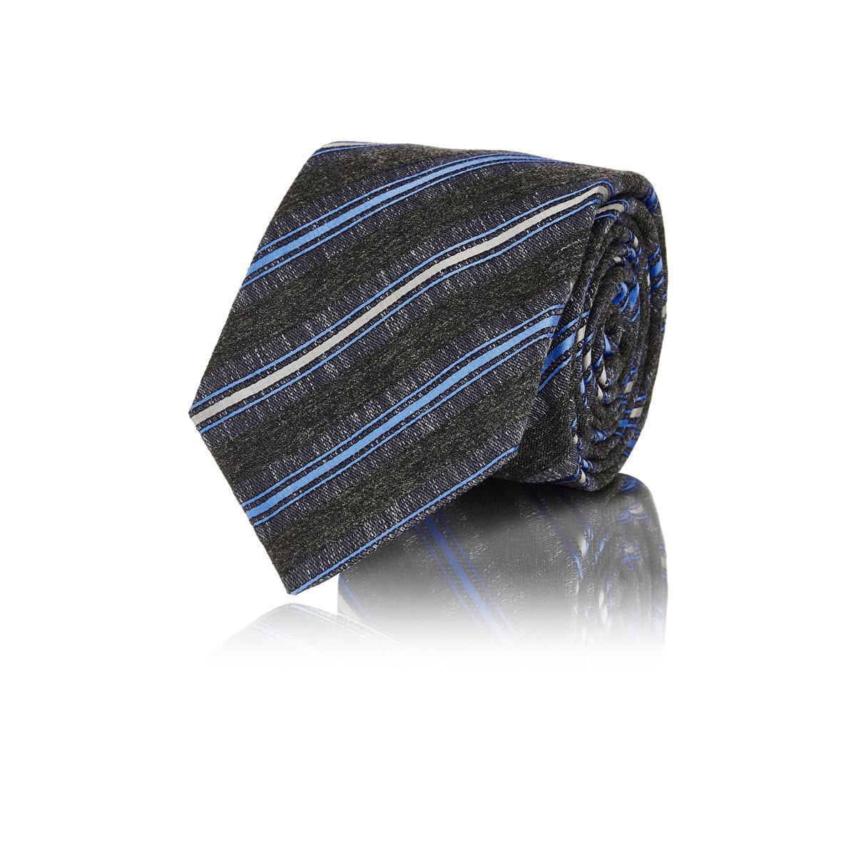 Mens Mélange Wool-Blend Necktie Kiton PzeYhZ9lf