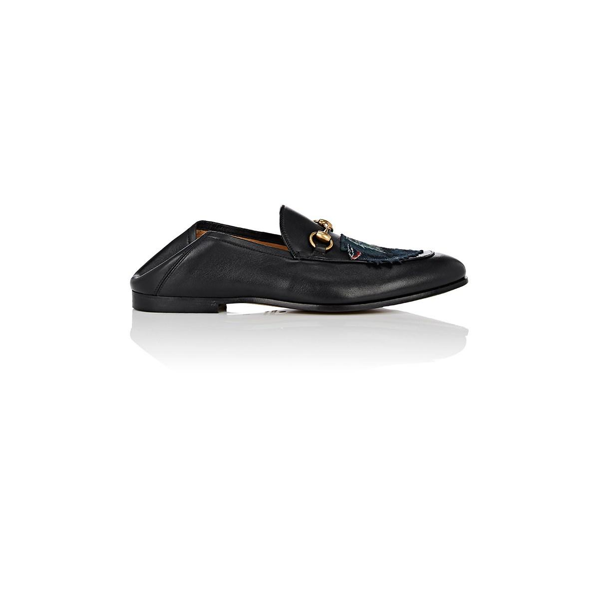 2f8e4660e Gucci Wolf-embroidered Leather Loafers in Black for Men - Lyst