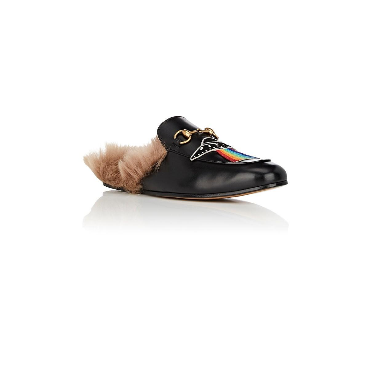 f271ddbba6e Gucci - Black Princetown Leather Slippers for Men - Lyst. View fullscreen