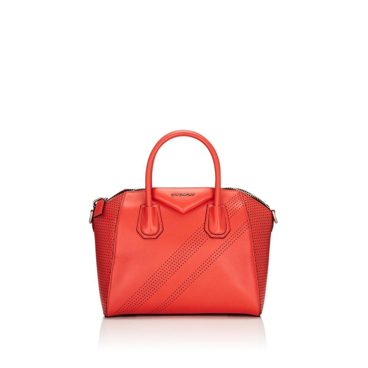 c1d36baf52fcb Lyst Givenchy Antigona Small Leather Duffel Bag In Red