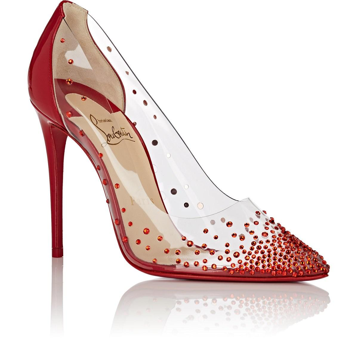 47d5726524b2 Christian Louboutin - Red Degrastrass Pvc   Patent Leather Pumps - Lyst.  View fullscreen