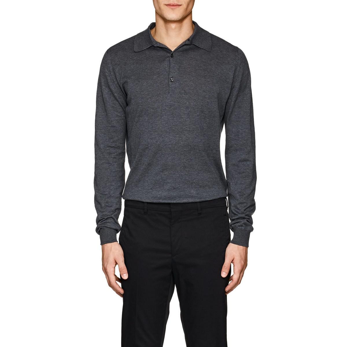 ce238431 John Smedley Bradwell Cotton Polo Shirt in Gray for Men - Lyst