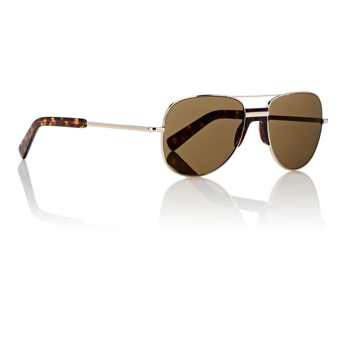 48b061a74edb Moscot - Metallic Bulvan Sunglasses for Men - Lyst. View fullscreen