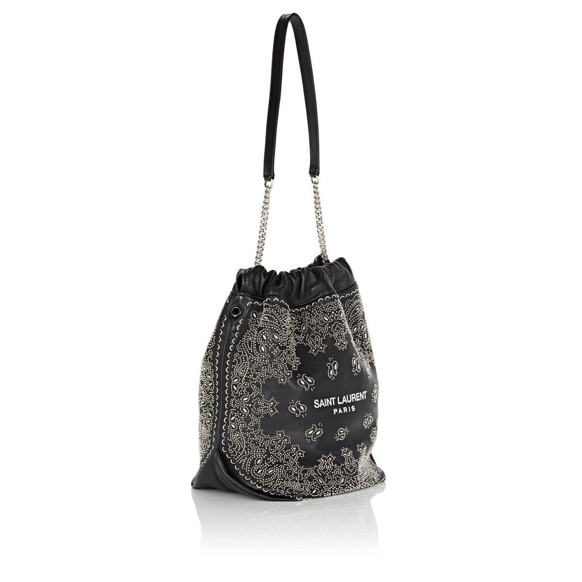 Saint Laurent - Black Teddy Sac Leather Bucket Bag - Lyst. View fullscreen 306a587f7c9ed