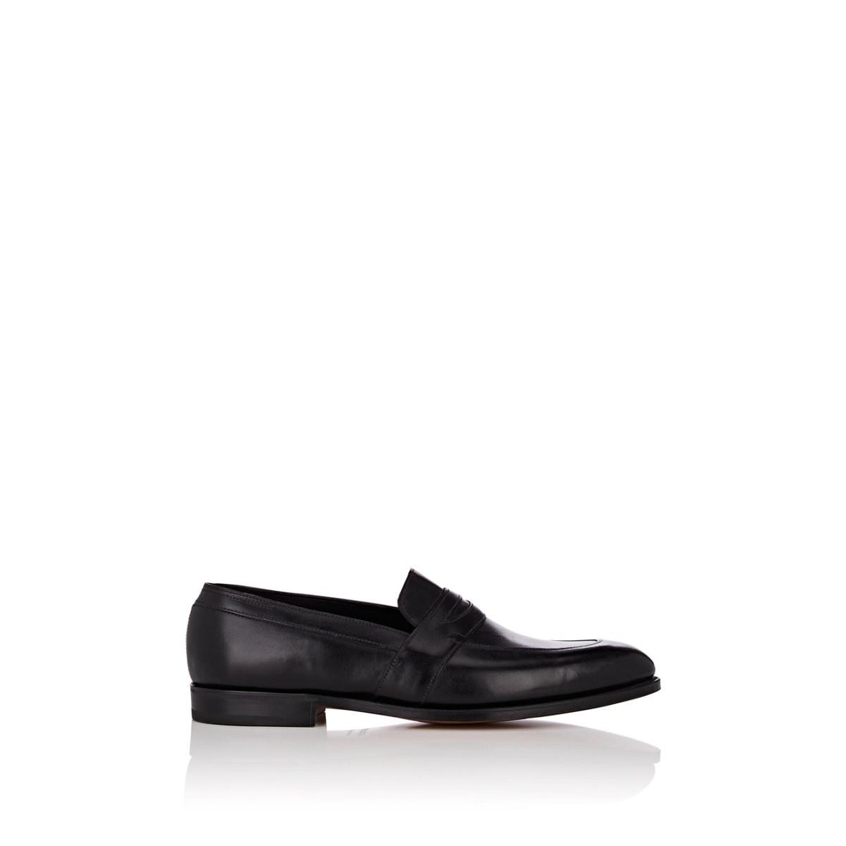 6a1be61a1da Lyst - John Lobb Adley Calfskin Penny Loafers in Black for Men