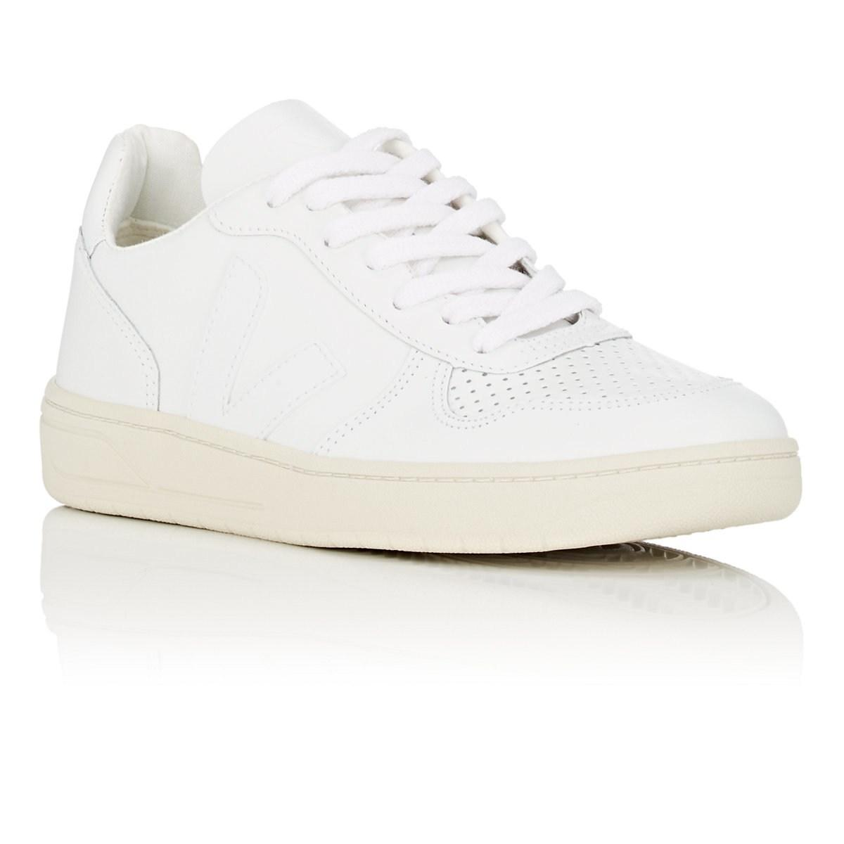 2248e939b7c9 Veja - White V-10 Leather Sneakers - Lyst. View fullscreen