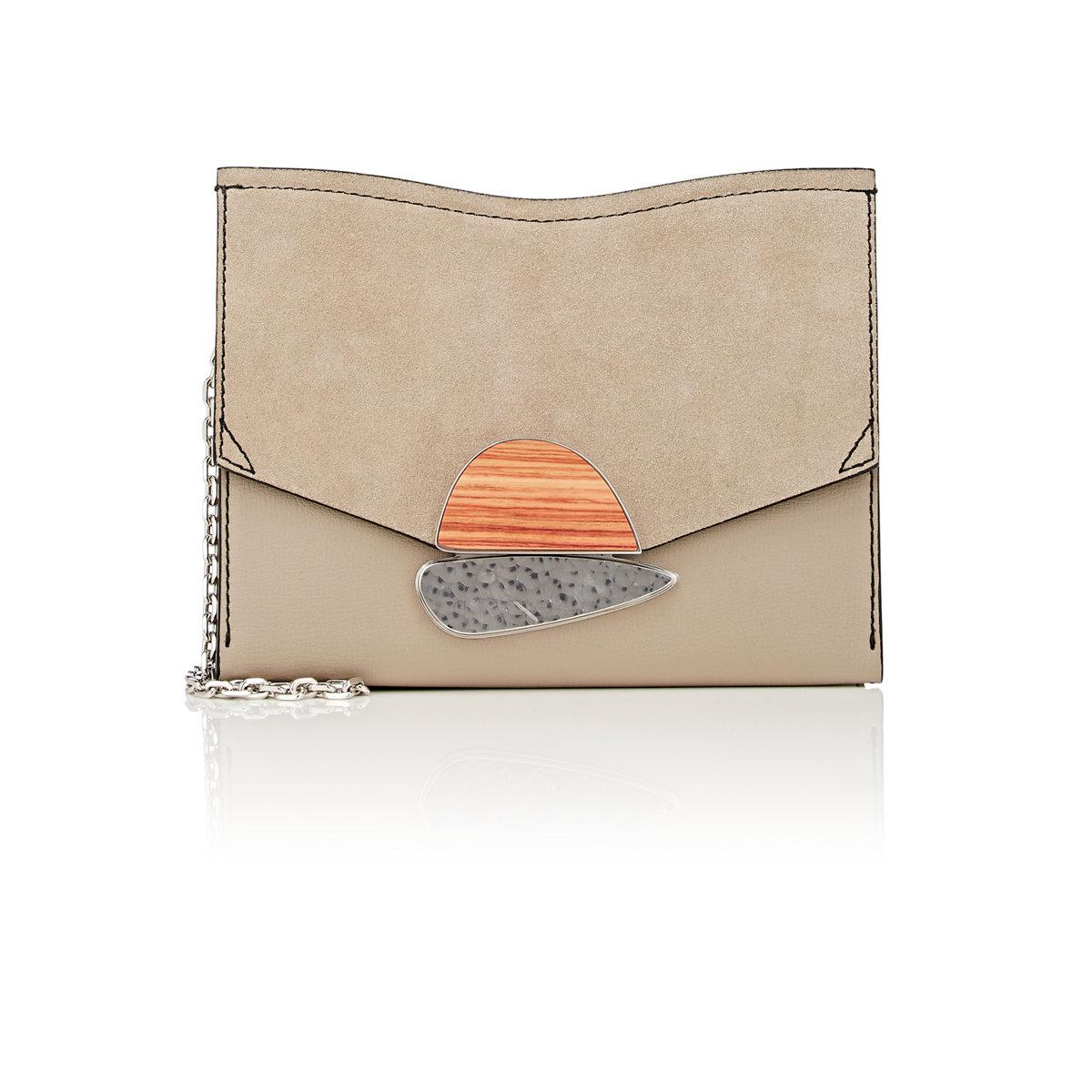 Curl small suede and leather clutch Proenza Schouler eiz30SVC7