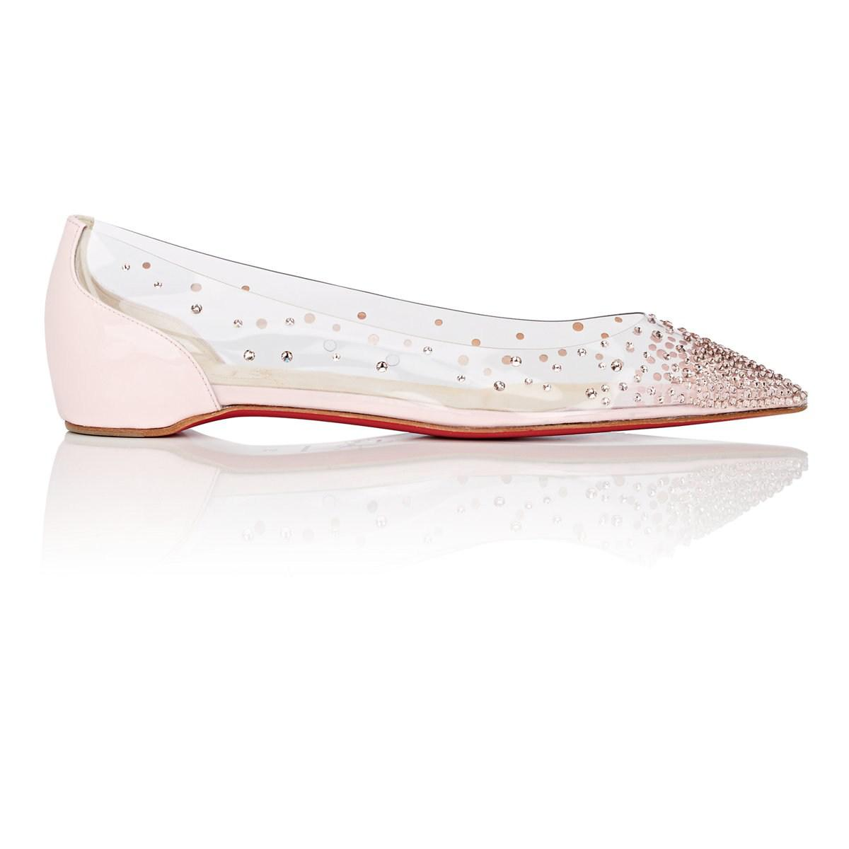 64a828af5a8 Lyst - Christian Louboutin Degrastrass Pvc   Patent Leather Flats in ...