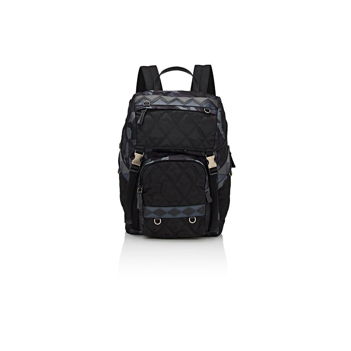 2b3f3b4f7b6b Prada Zaino Quilted Backpack in Blue for Men - Lyst