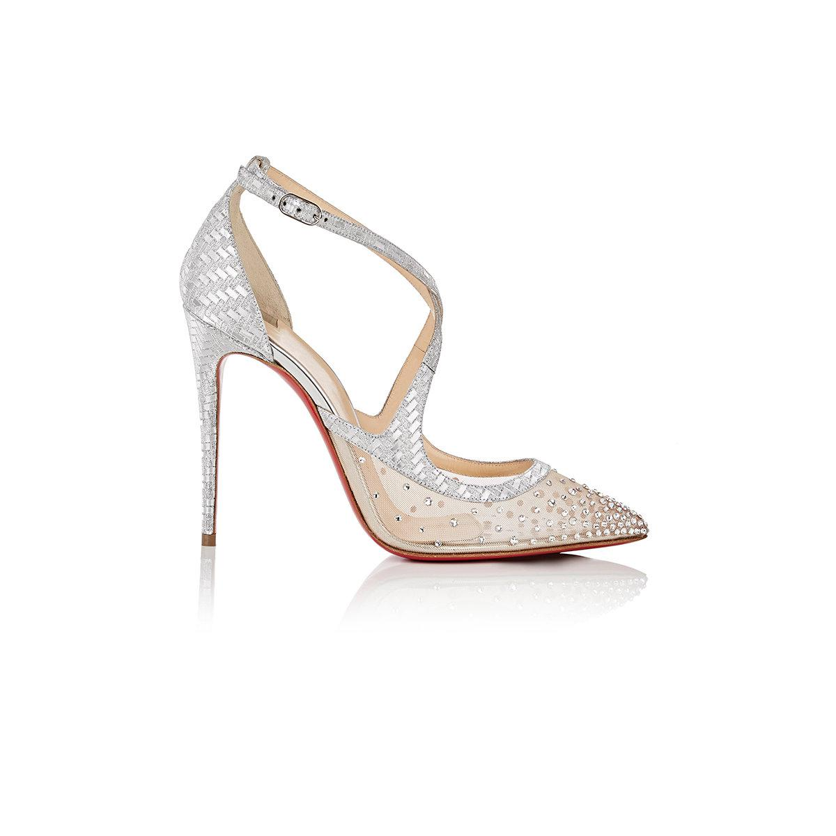3d6cce7bf3d Lyst - Christian Louboutin Twistissima Strass Ankle in White