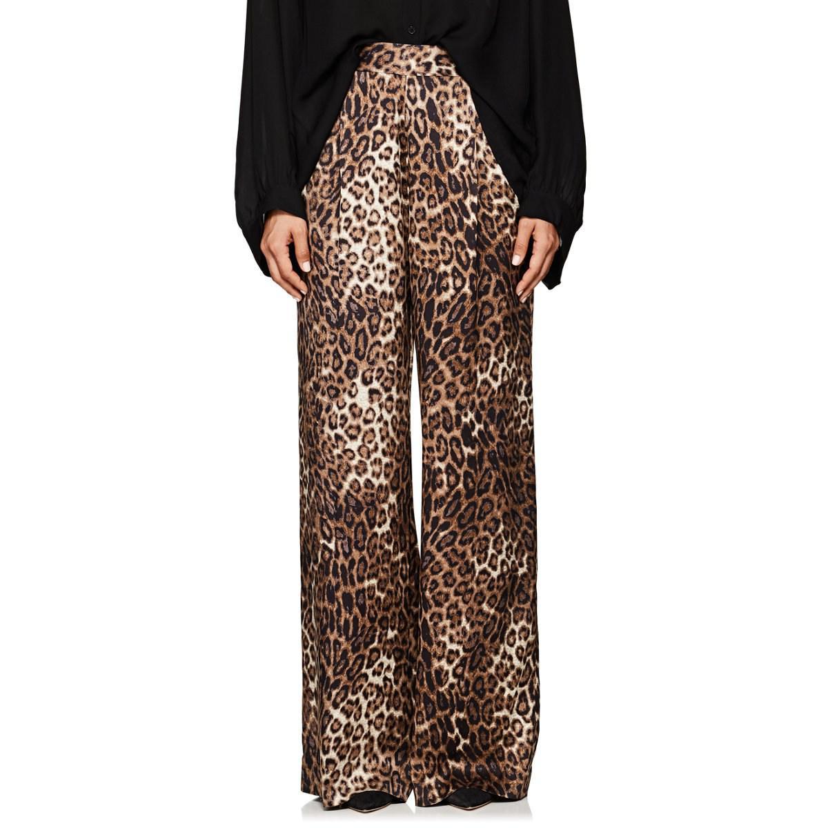 09166c5b8228 Nili Lotan Vivianna Leopard-print Silk Pants - Lyst