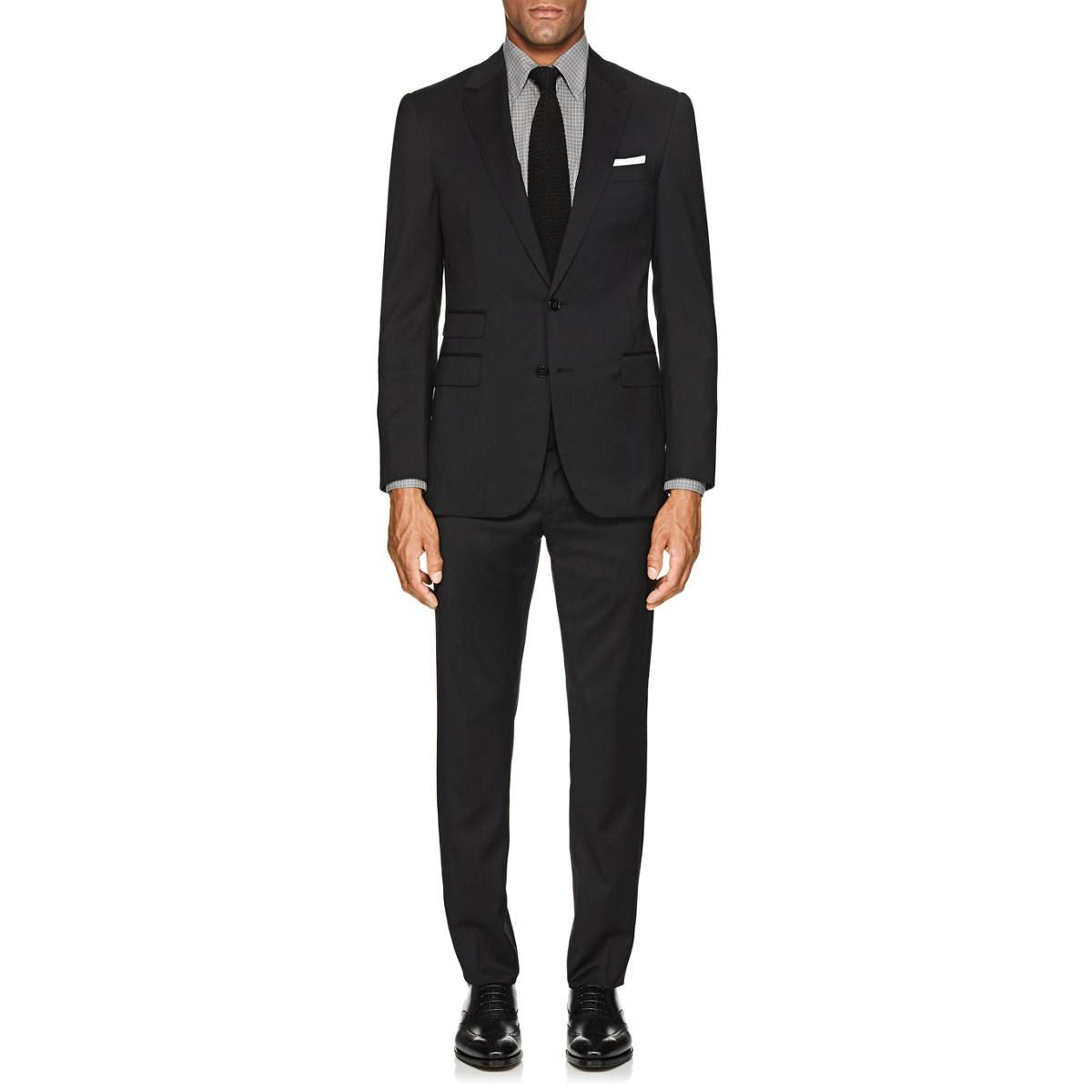 2914c86cf51a Ralph Lauren Purple Label Douglas Wool Two-button Suit in Black for ...