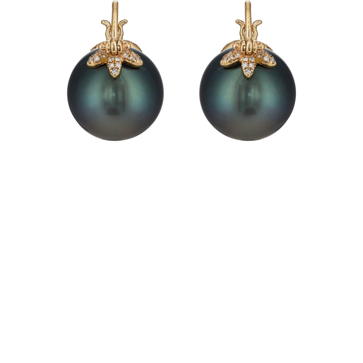 Samira 13 Womens Tahitian Pearl Earrings 0agr1Vg8fj