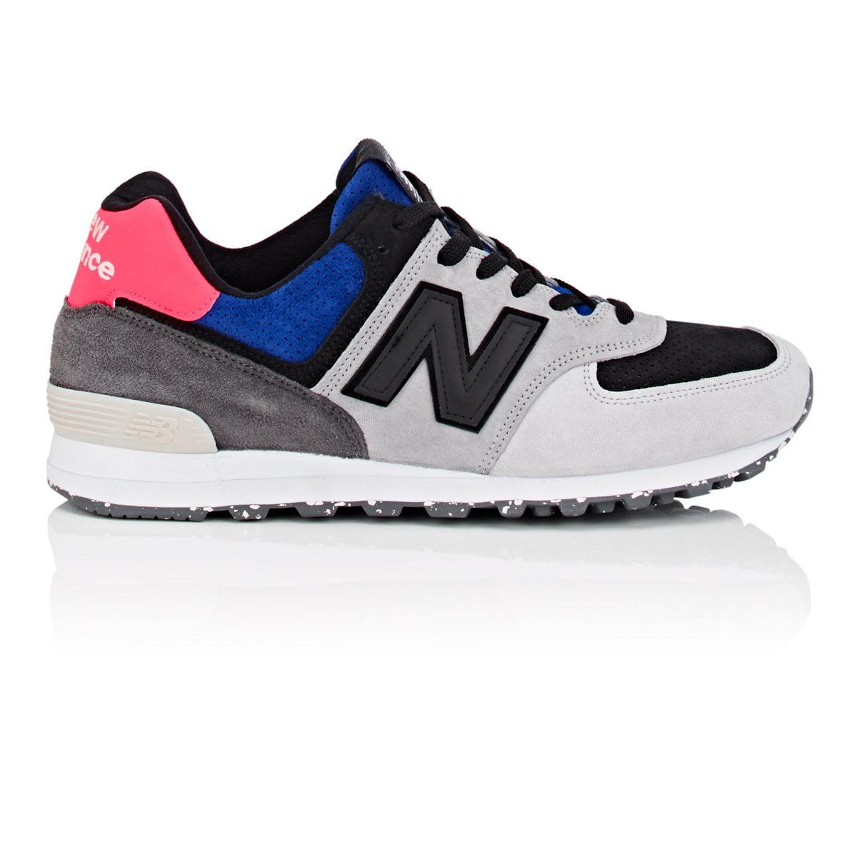 premium selection c59f9 24296 New Balance 574 Suede & Nubuck Sneakers in Gray for Men - Lyst
