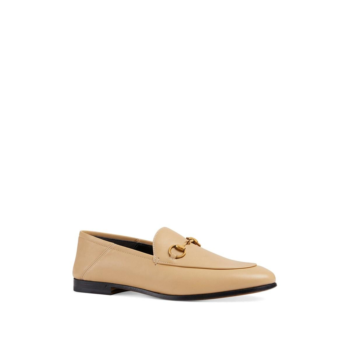 a2e6539b357 Gucci - Natural Brixton Leather Loafers - Lyst. View fullscreen