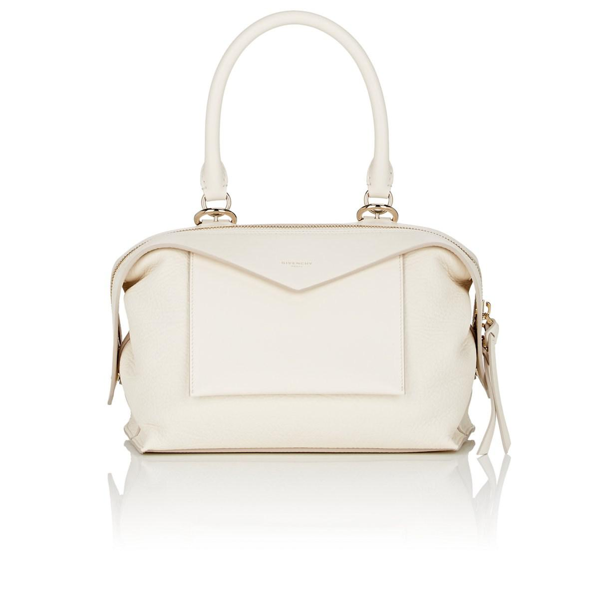 Sway Small Smooth And Textured-leather Shoulder Bag - Off-white Givenchy ogmFie86fT