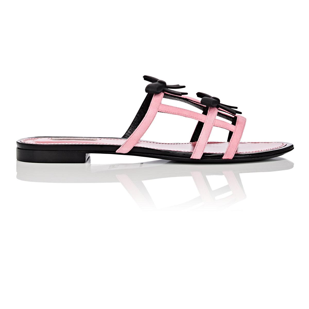 cheap price pre order Fabrizio Viti City Bow Suede Slide Sandals buy cheap good selling shopping online 1Wi0WJkqD
