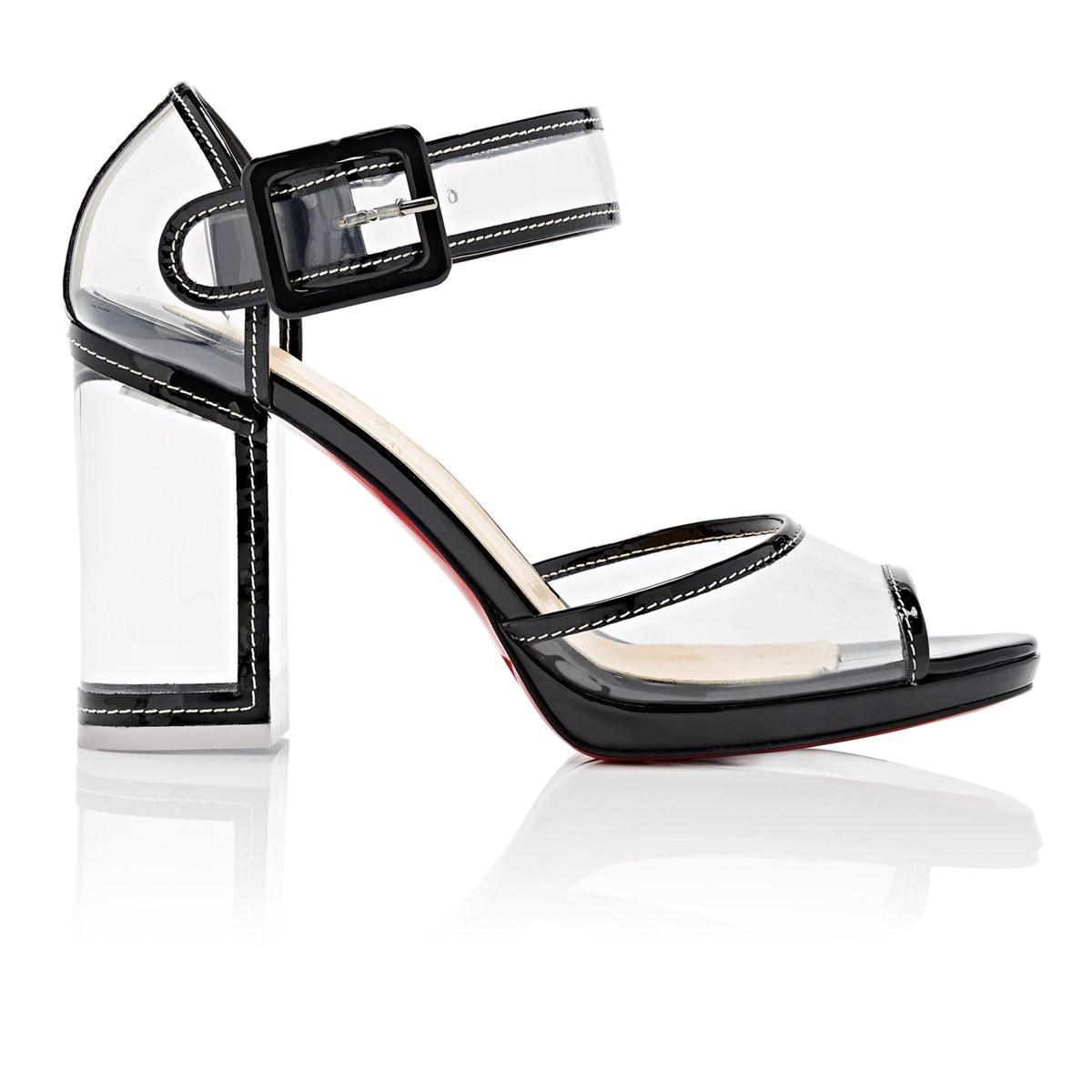 0aeb91e1caac ... canada christian louboutin. womens black barbaclara patent leather pvc  platform sandals 8b51d 24342