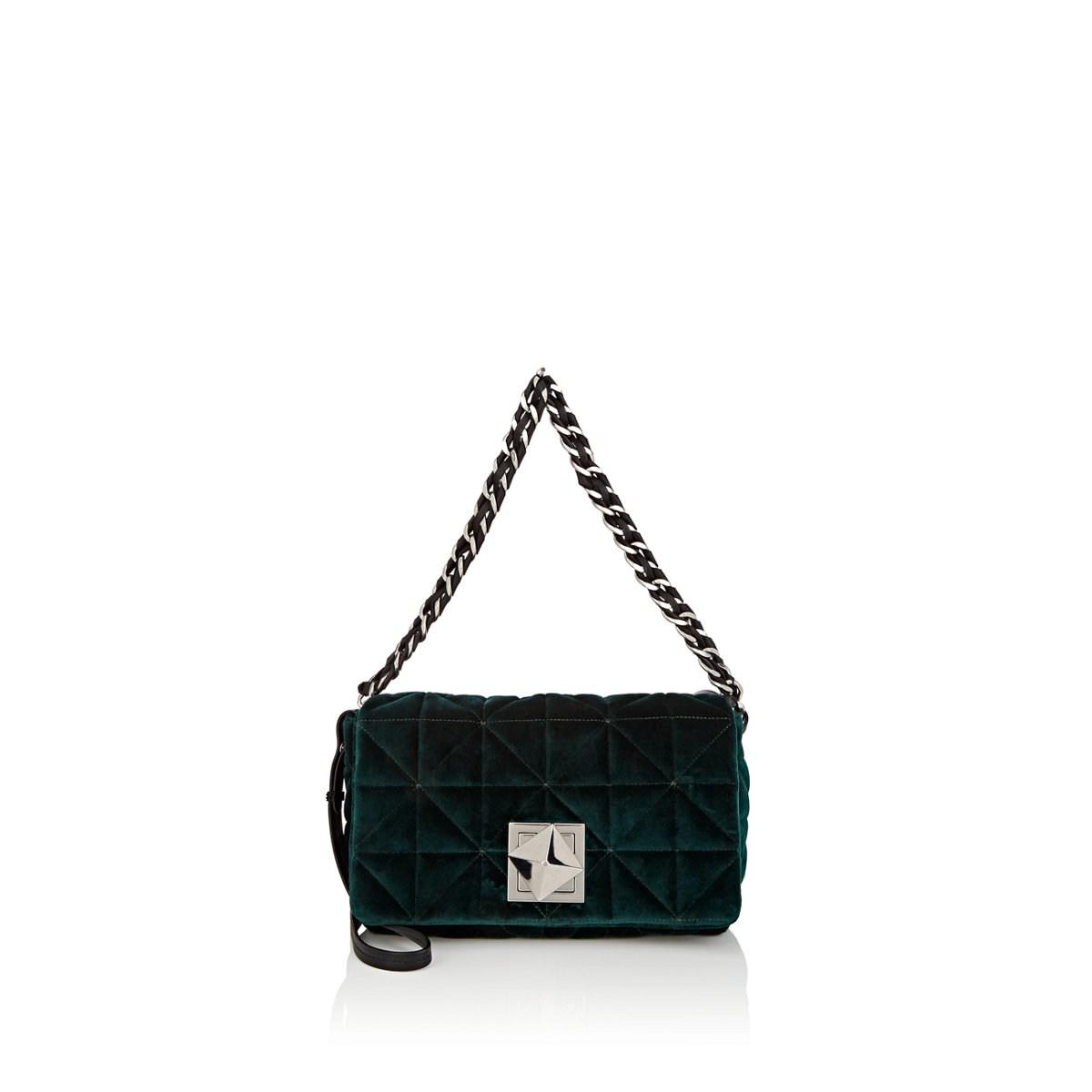 d8bd6c1d6a Sonia Rykiel Le Copain Large Velvet Shoulder Bag in Green - Lyst