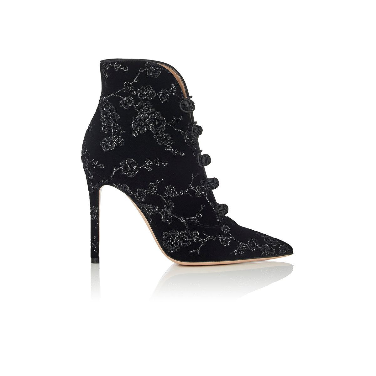 Womens Empress Embroidered Velvet Ankle Booties Gianvito Rossi RNfAW6