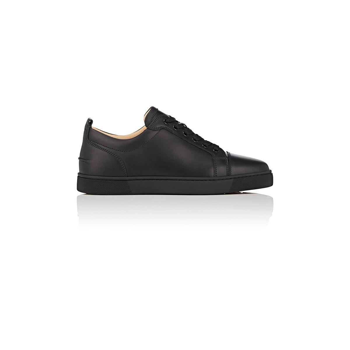 64bdec8b12a Christian Louboutin Louis Junior Flat Leather Sneakers in Black for ...