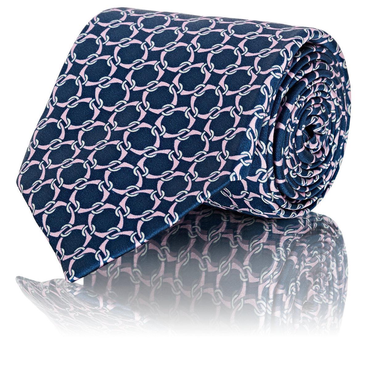Mens Interlocking-Ring-Print Silk Necktie Barneys New York BEcK6
