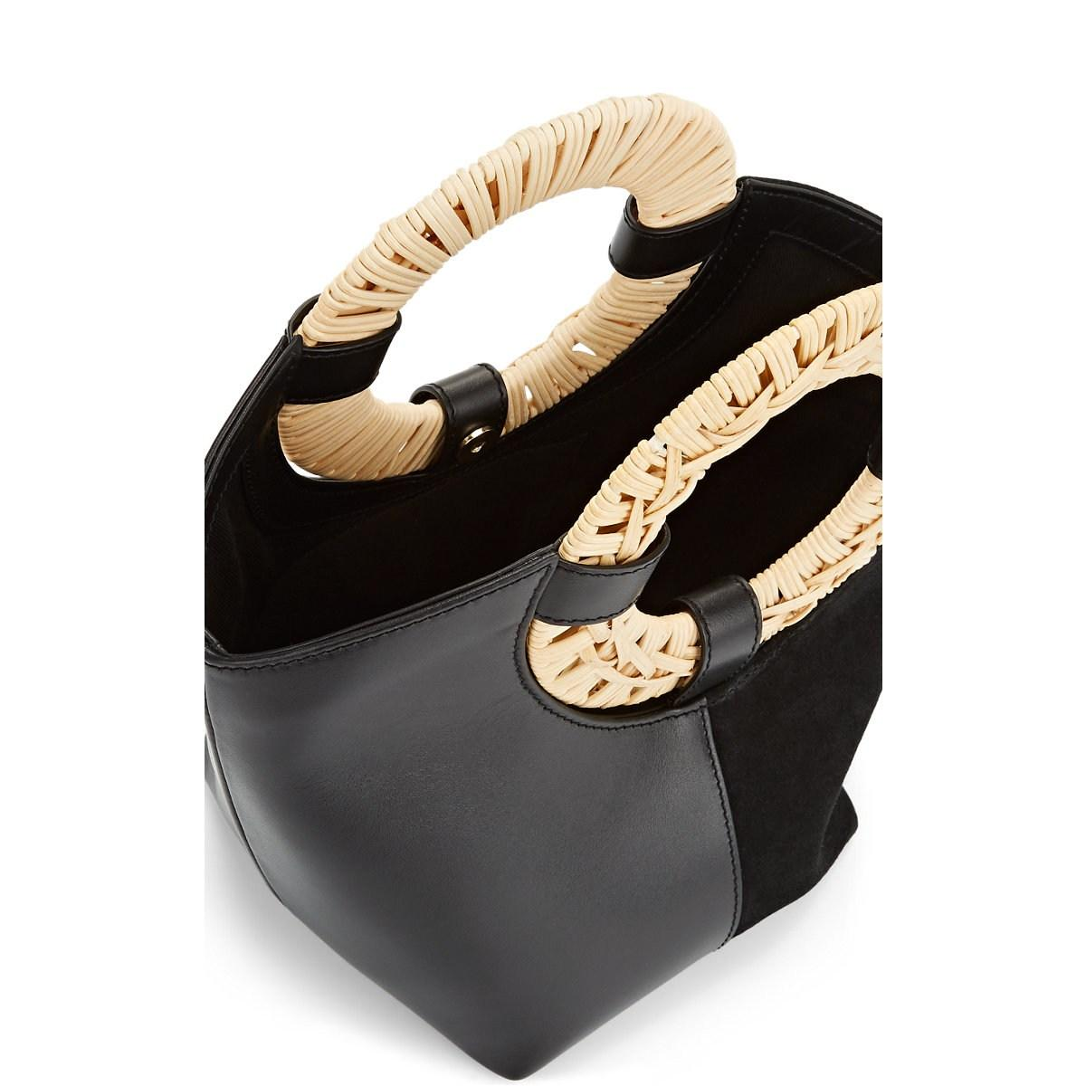 fbd94fdc248 Ulla Johnson - Black Axis Leather   Suede Mini Tote Bag - Lyst. View  fullscreen