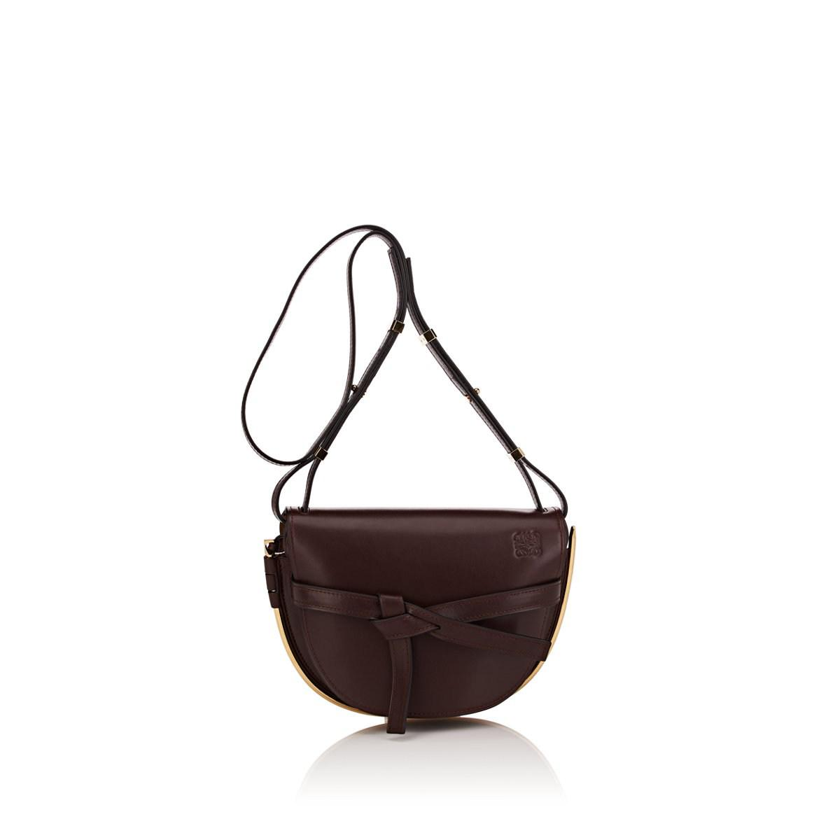 Lyst - Loewe Gate Small Leather Shoulder Bag in Brown 387e2a454f864
