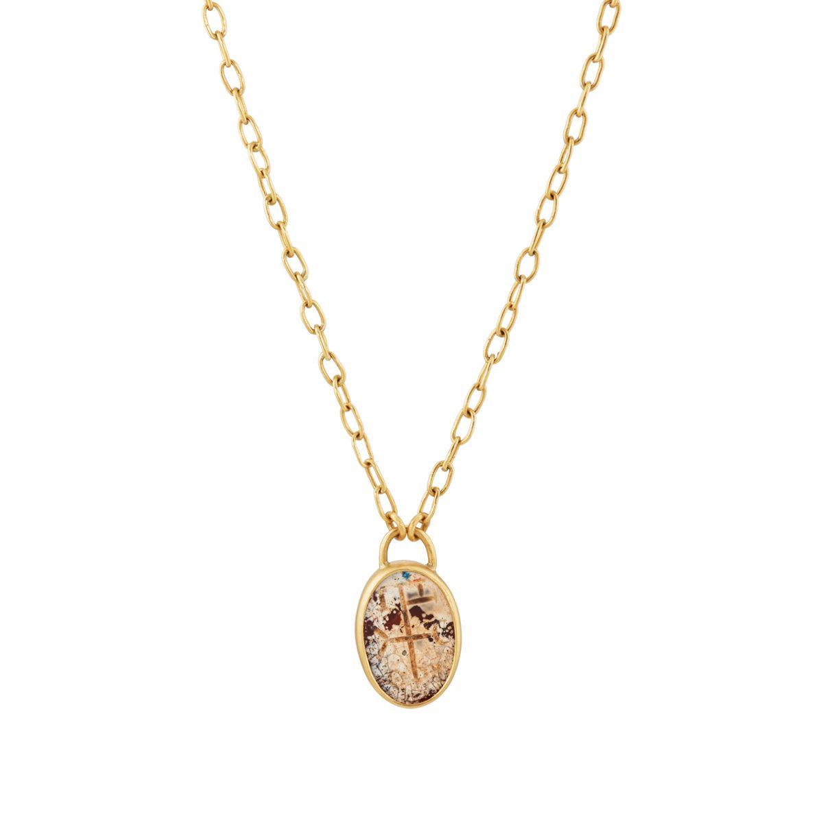 Eli Halili Womens Ancient Byzantine Carnelian Pendant Necklace cB0RpPN