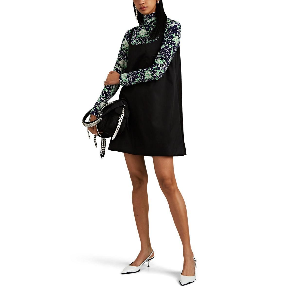5f10c1589e Prada - Black Tech-gabardine Shift Dress - Lyst. View fullscreen