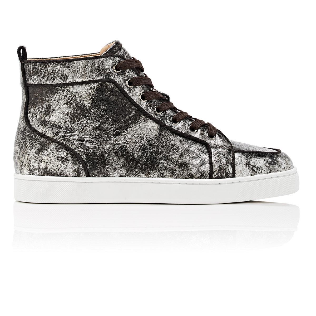 911ae1eb5d57 ... clearance christian louboutin. womens metallic rantus orlato flat  leather sneakers a3678 886fd