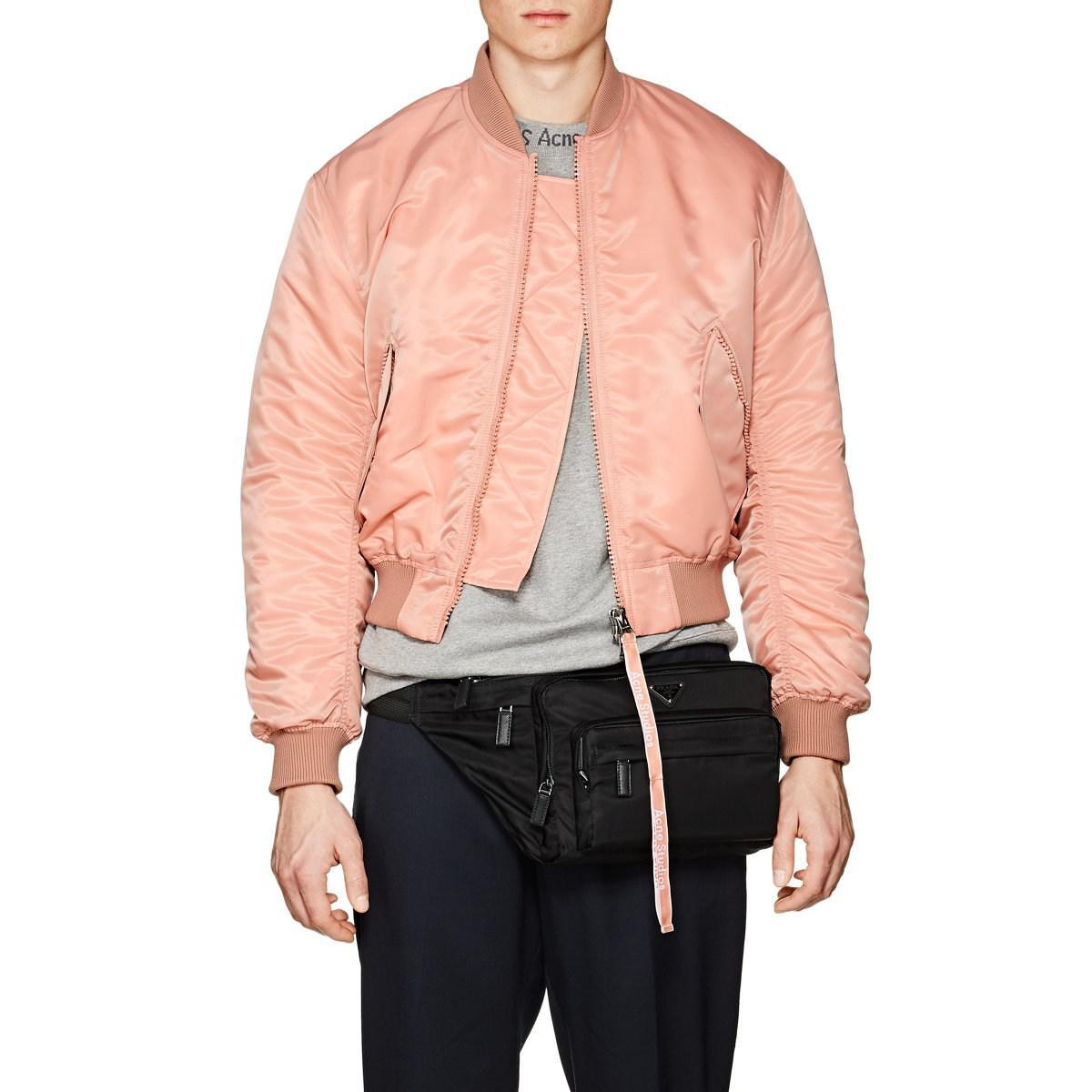 6fc8a97bb Acne Studios Clea Tech Bomber Jacket in Pink for Men - Lyst
