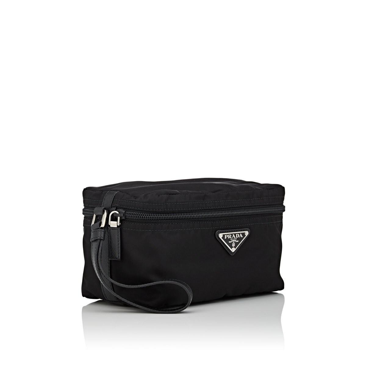 076e51a7223ecd Prada - Black Leather-trimmed Organizer Case for Men - Lyst. View fullscreen