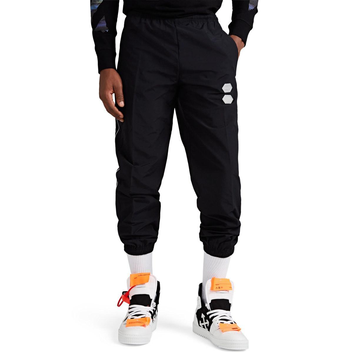 e9f52e069aab Lyst - Off-White C O Virgil Abloh Logo Track Pants in Black for Men