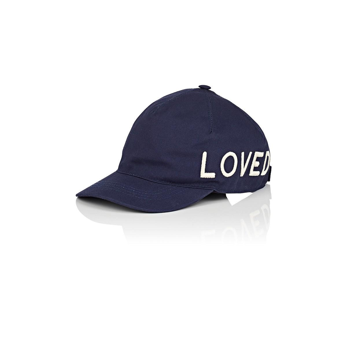 Lyst - Gucci loved Cotton Baseball Cap in Blue for Men 6ce6bea5583