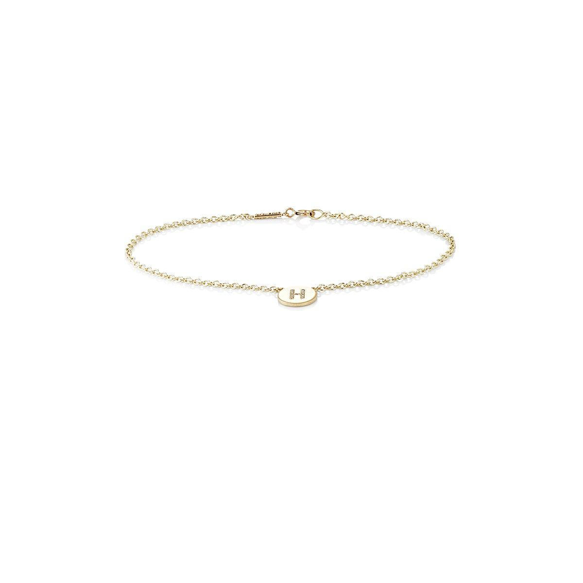 Womens Initial N Disc Bracelet Jennifer Meyer br9V4