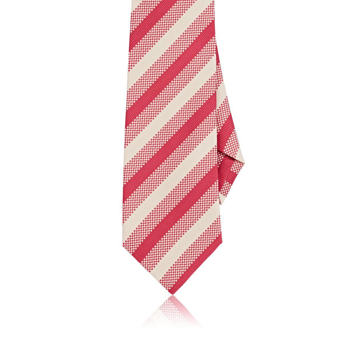 Mens Checked & Striped Silk Necktie Dolcepunta fR9xIB