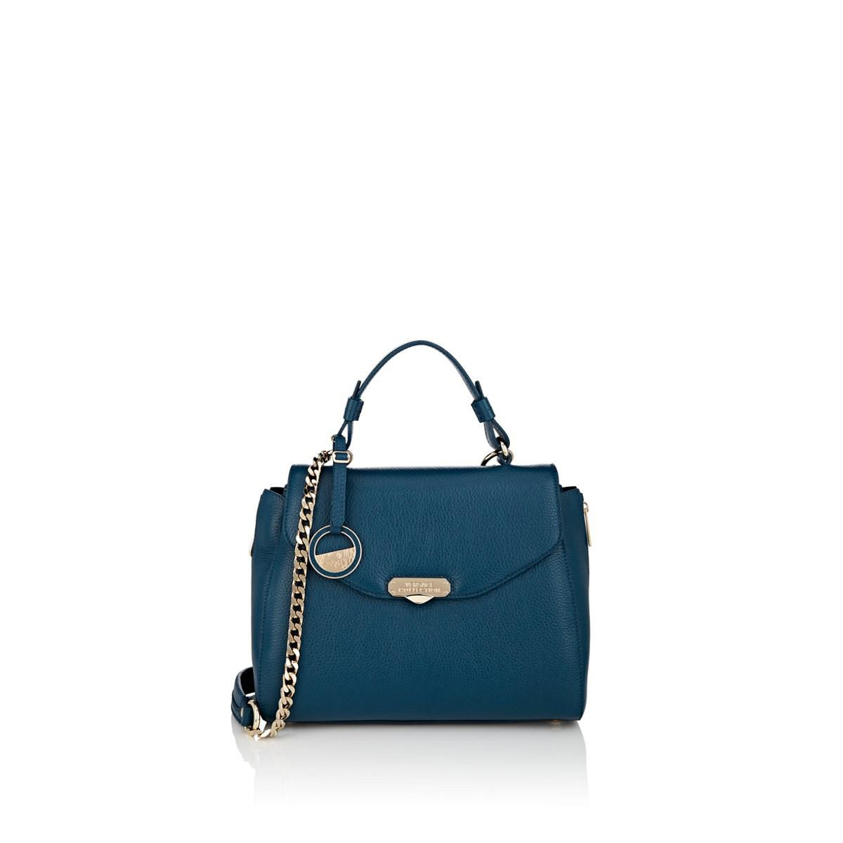 26b6f9df7ed9 Lyst - Versace Leather Satchel in Blue