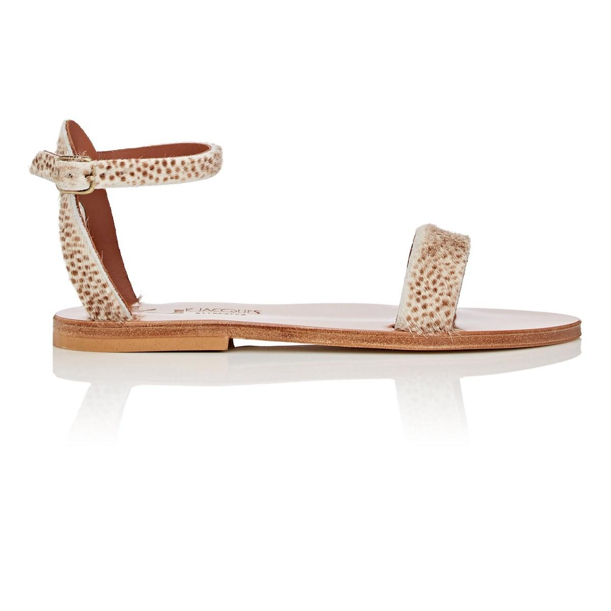 b769628fbbc6 Lyst - K. Jacques Pampa Calf Hair Sandals Size 7 in White - Save 70%