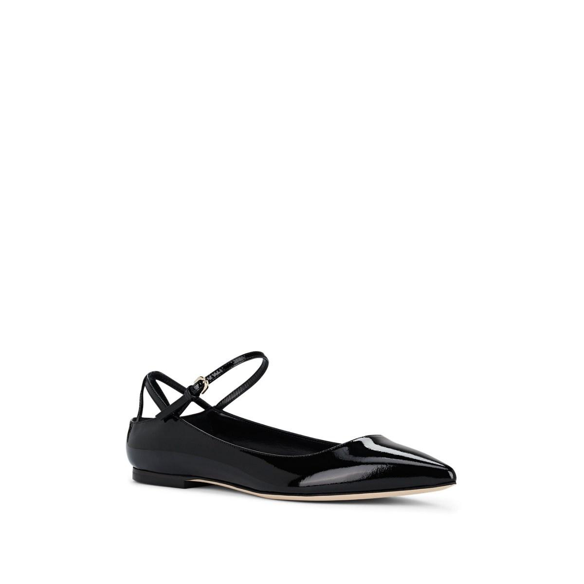 819a8039032 Brian Atwood Astrid Point Toe Patent Leather Flats in Black - Lyst