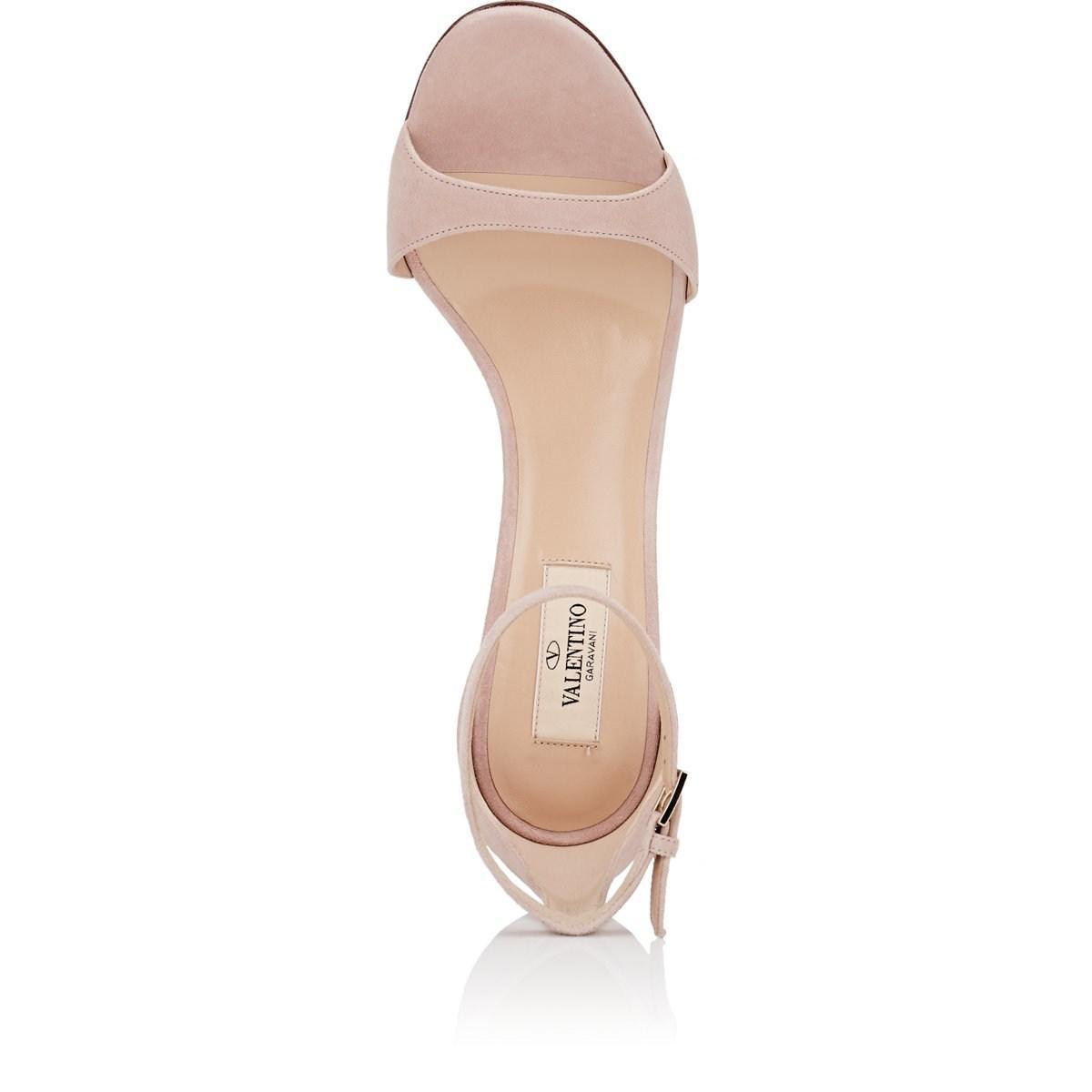 2bf914fd8cb9 Valentino - Multicolor Acrylic-glass-heel Suede Sandals - Lyst. View  fullscreen
