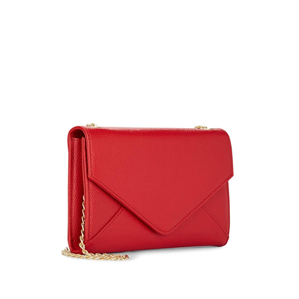 128cfcbf3153 Barneys New York - Red Hannah Leather Chain Wallet - Lyst. View fullscreen