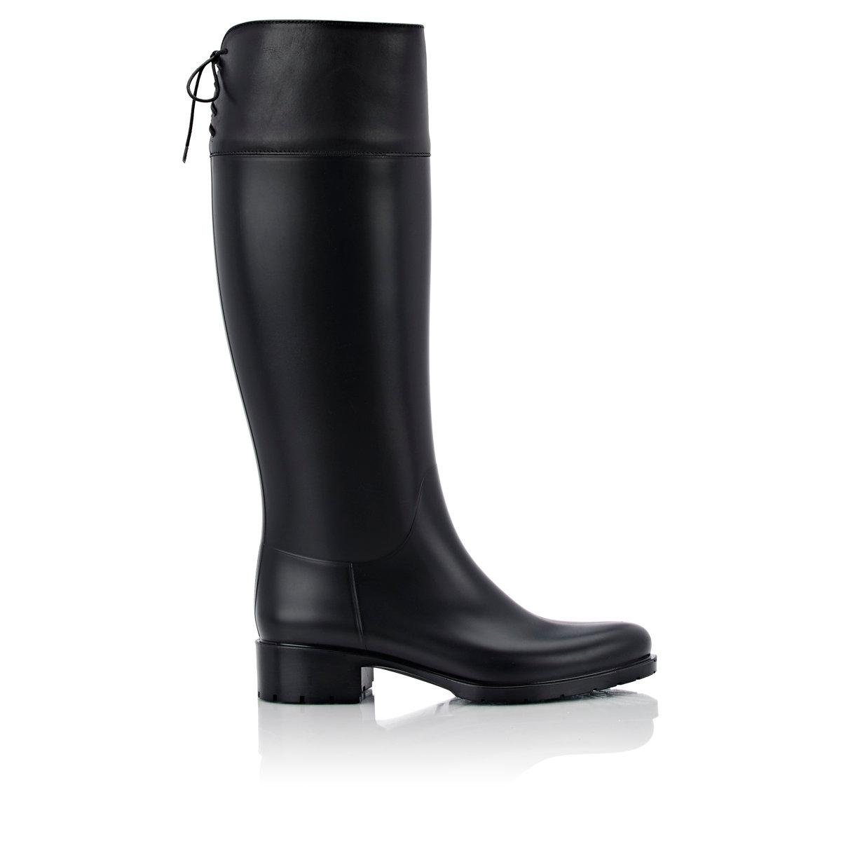 Barneys New York Women S Rubber Amp Leather Rain Boots In