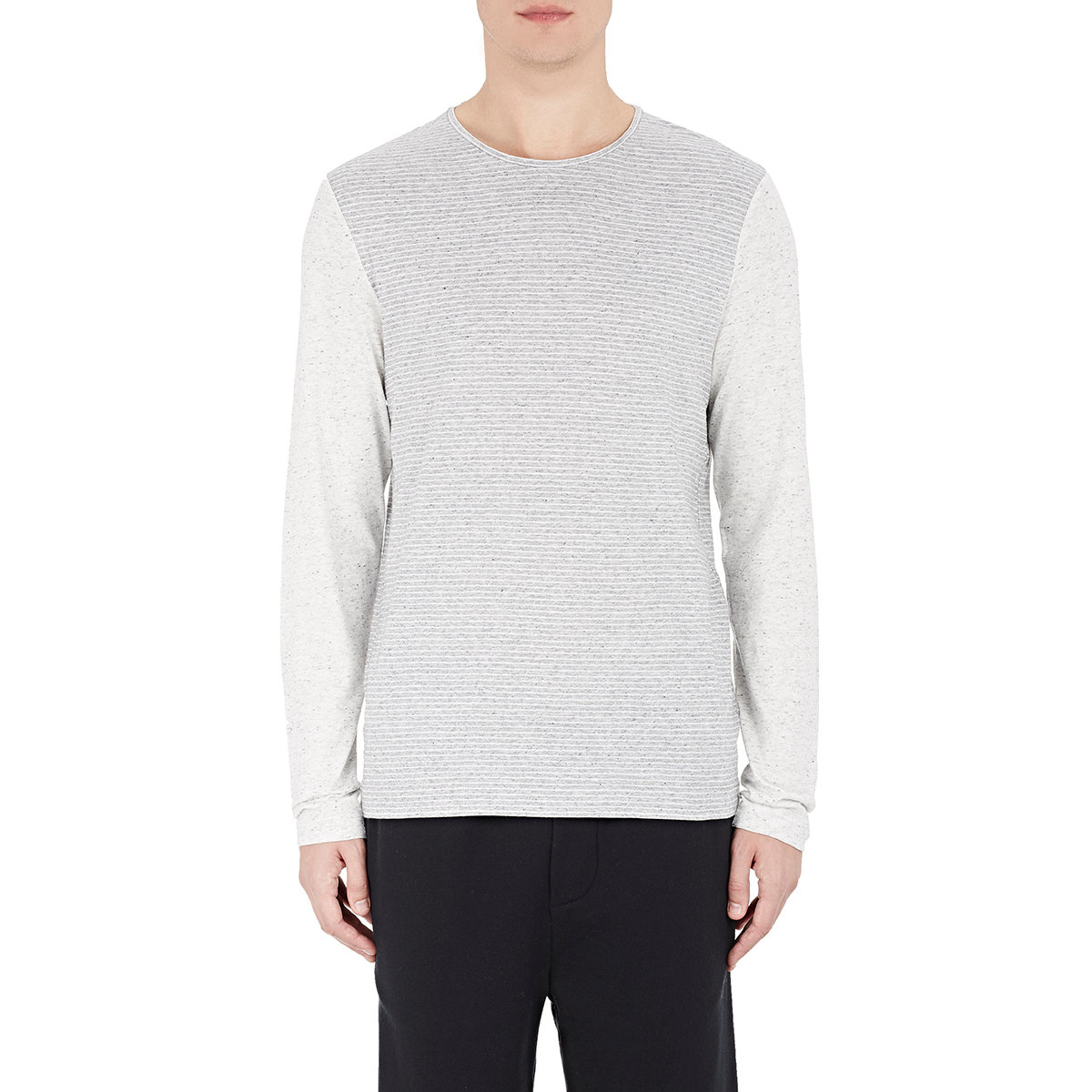 vince long sleeve t shirt in gray for men lyst
