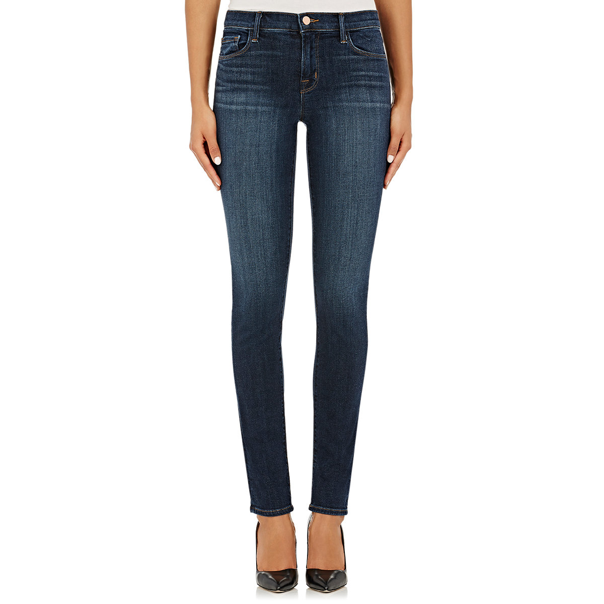 Lyst - J Brand Women's Mid-rise Rail Jeans in Blue