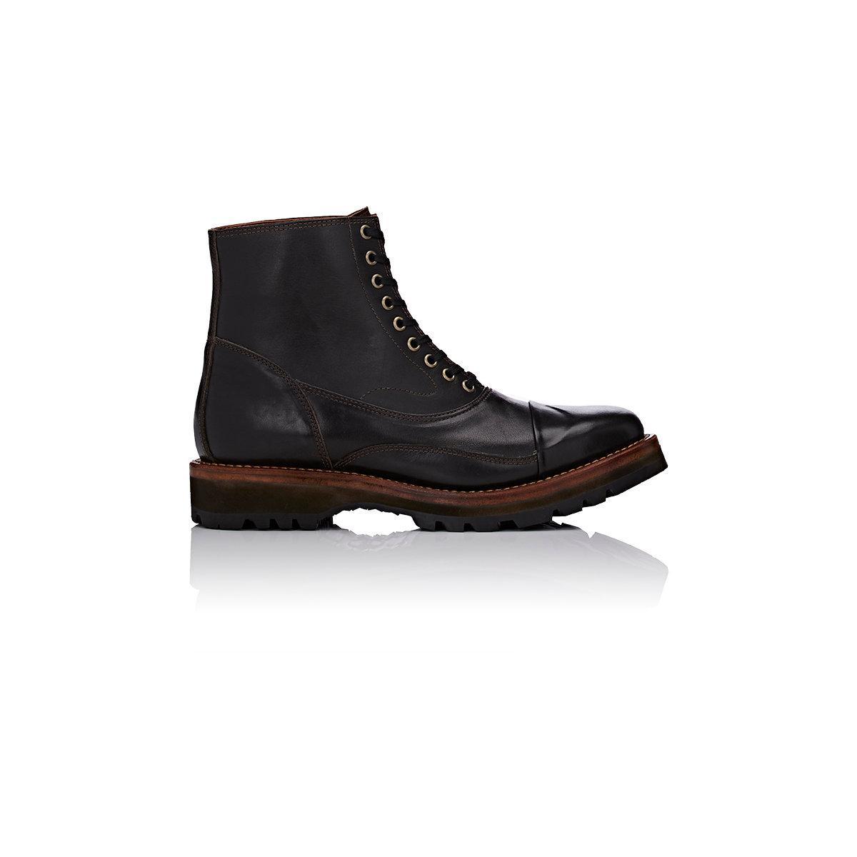 julian boots wingtip cap in brown for lyst